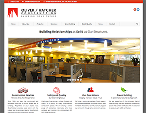 Oliver/Hatcher Construction Web Design - Sumo Sweet Creative